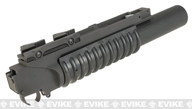G&P Airsoft Rifled Barrel M203 Grenade Launcher w/ QD Cam Lock Mount and Grenade Shell - Skull Frog Logo