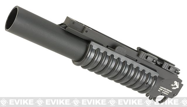 G&P Airsoft Rifled Barrel M203 Grenade Launcher w/ QD Cam Lock Mount and Grenade Shell (Type: Skull Frog / Long)