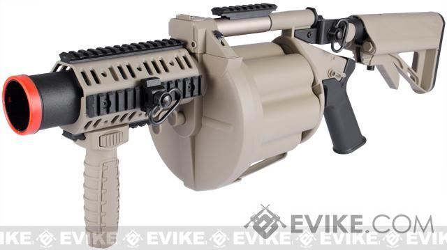 ICS MGL Full Size Airsoft Revolver Grenade Launcher - Tan