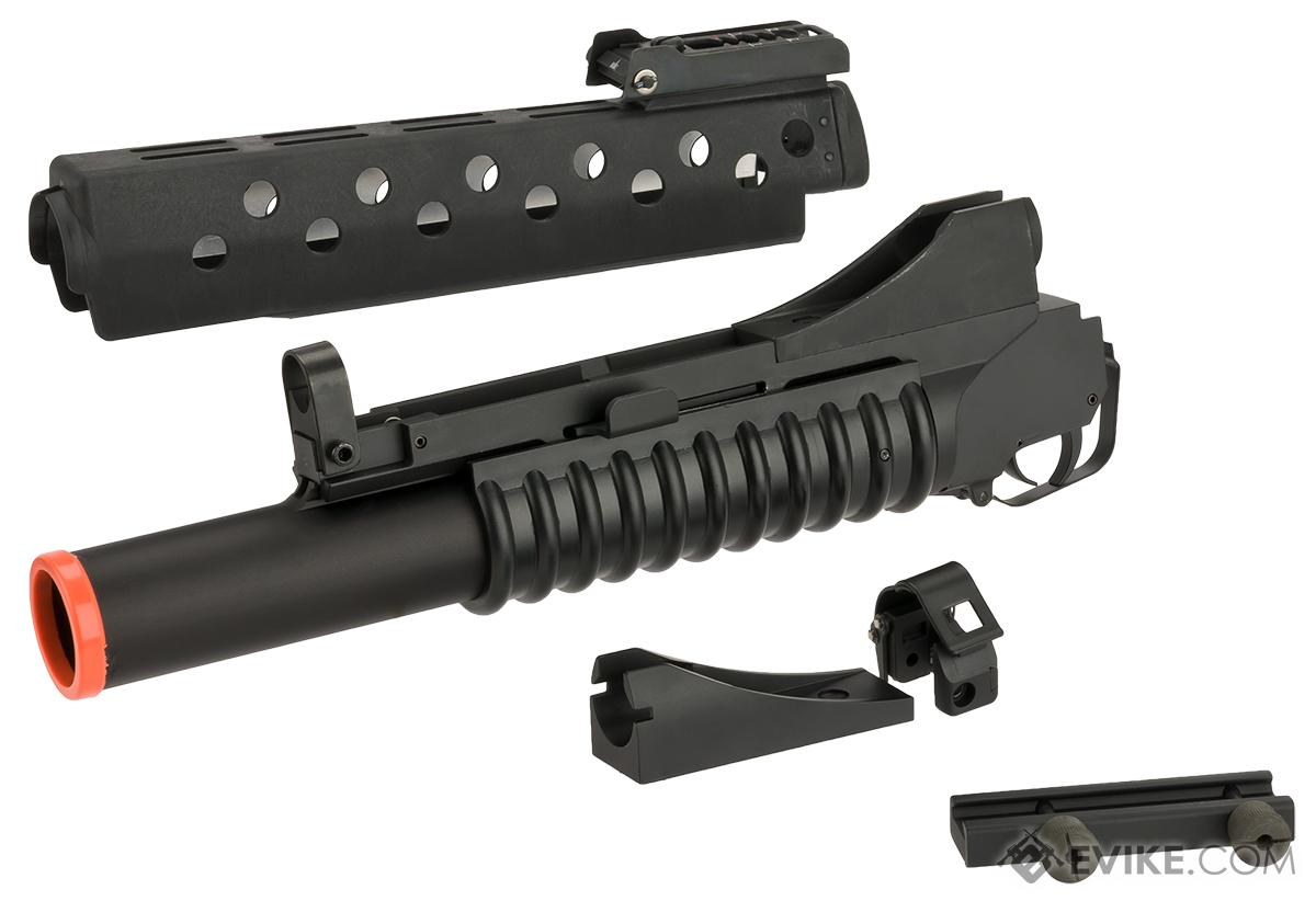 Matrix Airsoft M203 Style Grenade Launcher with G&P M16 Handguard & Mounts