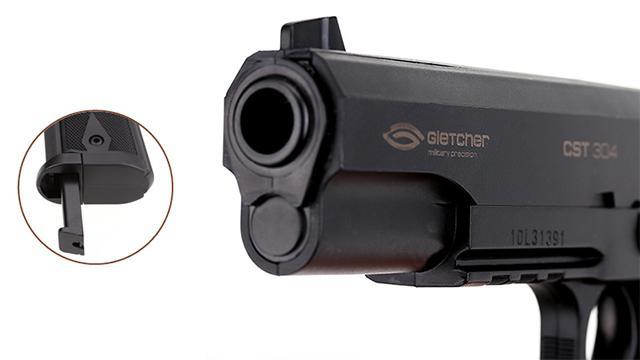 Gletcher CST 304 Co2 Powered Airgun ).177 cal NOT AIRSOFT) BB Pistol - Black