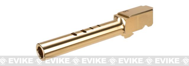 Guarder CNC Aluminum Outer Barrel for TM G Series 18C Airsoft GBB Pistols - Gold