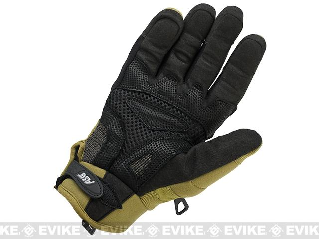 ASG STRIKE Systems Tactical Assault Gloves - Desert (Size: Large)