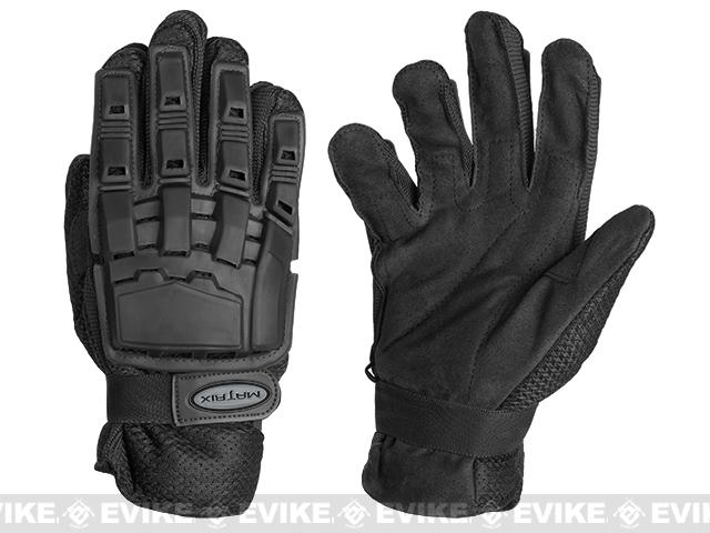 Matrix Full Finger Tactical Gloves - Black (Size: Large)