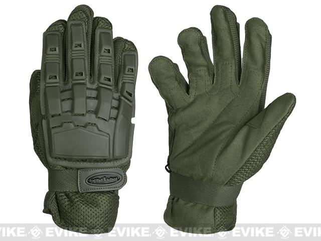 Matrix Full Finger Tactical Gloves - OD Green (Size: Small)