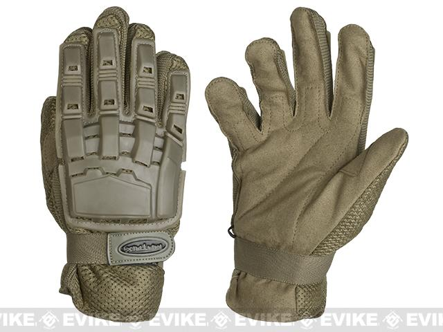 Matrix Full Finger Tactical Gloves - Tan (Size: Medium)