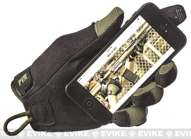 z PIG Full Dexterity Tactical (FDT) Gloves Alpha Touch- Coyote (Size: Large)