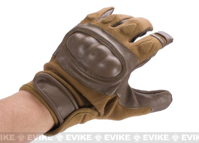 Matrix Nomex Hard Shell Knuckle Tactical Gloves - Brown (Size: Medium)