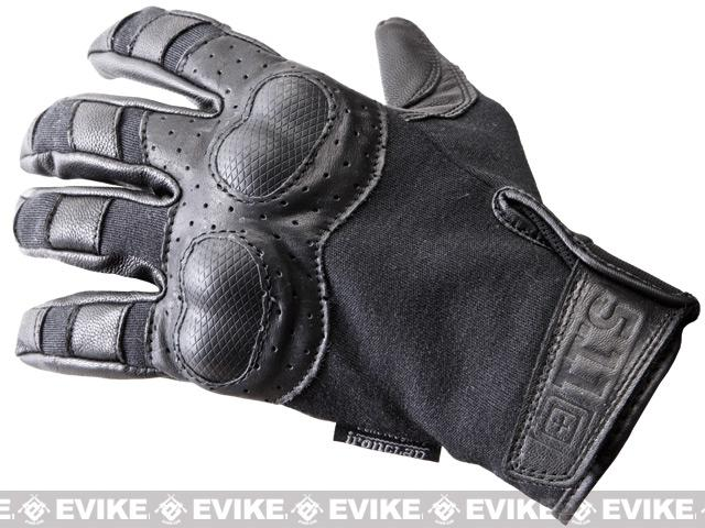 5.11 Tactical HardTime Hard Knuckle Gloves - Black (Size: Medium)