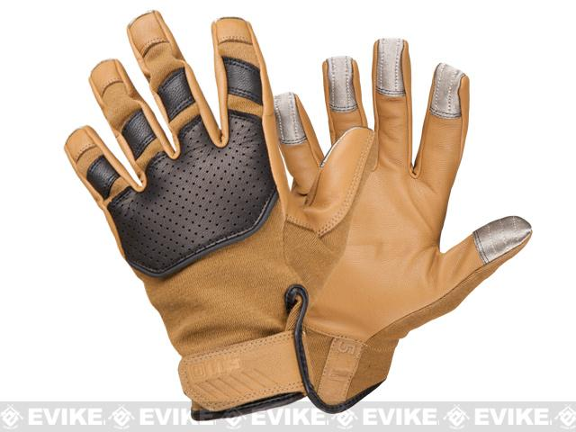 z 5.11 Tactical Screen Ops Tactical Kevlar Touch Screen Gloves - Coyote / X-Large