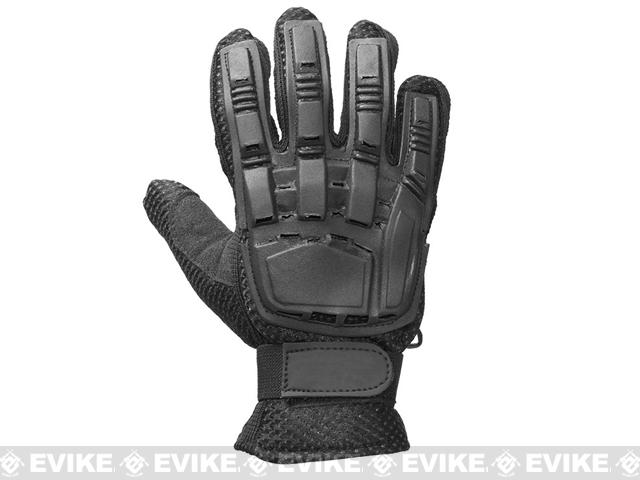 Matrix Terminator CQB Combat Tactical Full Finger Gloves (Size: L) - Black