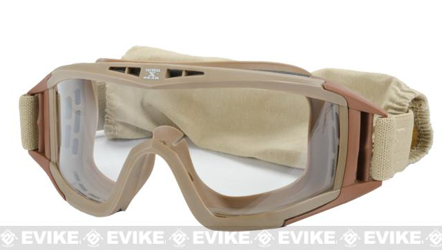 z GxG Tactical Multi-Purpose Full Sealed Goggles w/ 3 Lens - Tan