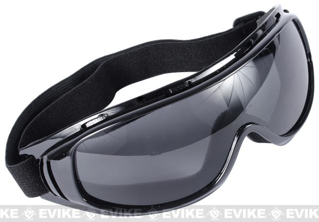 Edge Tactical Anti-Fog UV-400 Polycarbonate Lens Goggle - Smoke