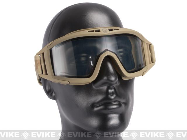 z Save Phace Tactical Eye Protection Elite Series Goggles w/ Smoke and Clear Lens - Dark Earth