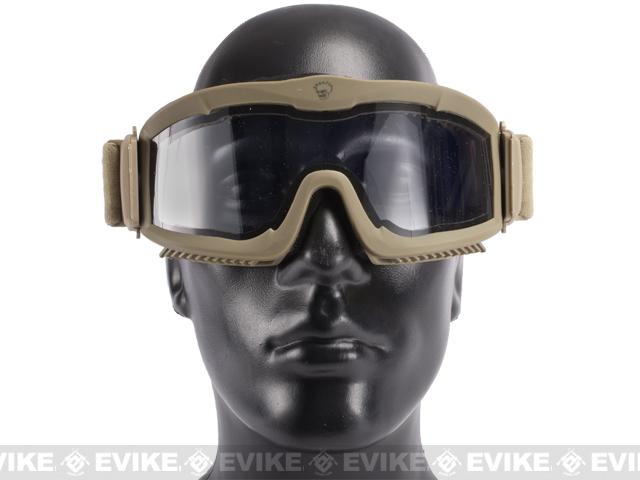 z Save Phace Tactical Eye Protection Recon Series Goggles w/ 3 Thermal Lens - Dark Earth