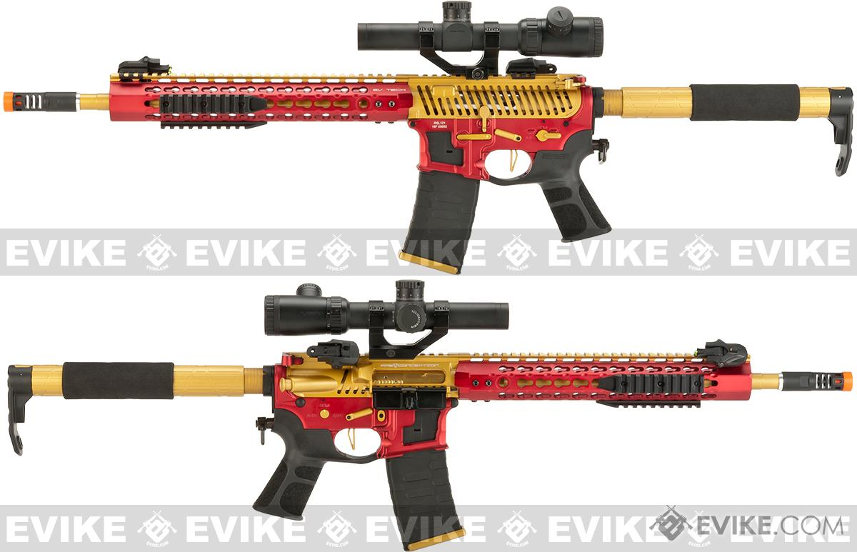 Pre-Order ETA November 2016 APS Limited Edition CNC Machined Gold Dragon Custom AEG Rifle w/ Silver Edge Gearbox - Red/Gold