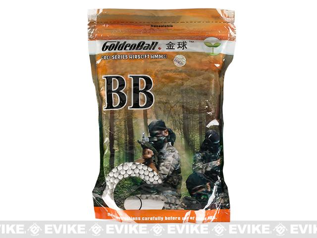 z Golden Ball Pro-Series 6mm Premium Biodegradable Airsoft BBs - 0.15g White (1kg)