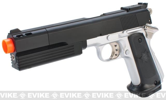 HFC Full Size 1911 Super Killer Combat .45 Airsoft Gas Pistol - Two Tone