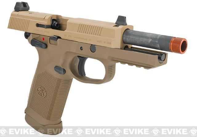 FN Herstal FNX-45 Tactical Airsoft Gas Blowback Pistol by Cybergun - Dark Earth (Package: Gun)