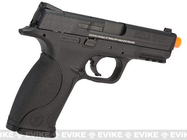 Smith & Wesson Licensed M&P 9 Full Size Airsoft GBB Pistol by VFC - Black (Package: Add Two Extra Magazine)