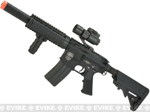 Evike Custom G&P M4 CQB-R Airsoft AEG Rifle w/ Crane Stock - Black
