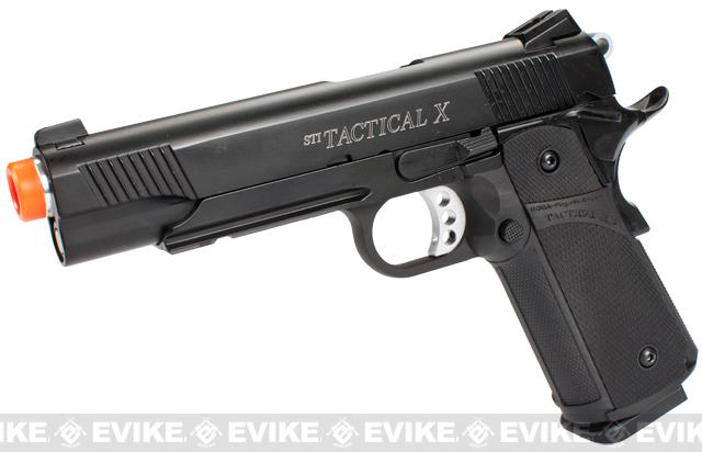 ASG STI Licensed Tactical X 2011 Hi-CAPA Full Metal Airsoft GBB Pistol by KJW