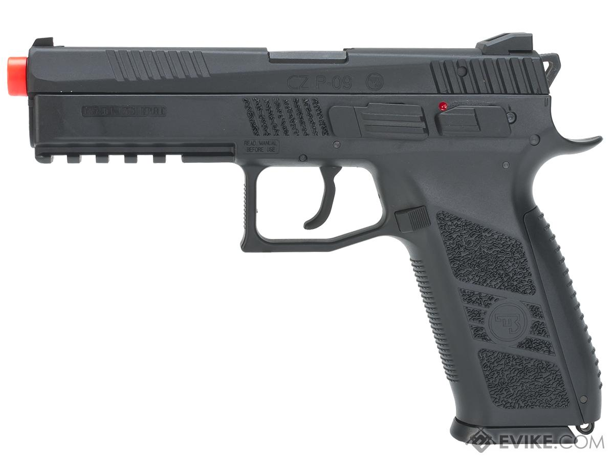 ASG CZ P-09 Duty Licensed Airsoft GBB Gas Blowback Full Metal Pistol - Black