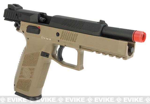 ASG CZ P-09 Suppressor Ready CO2 Airsoft GBB Pistol - Flat Dark Earth