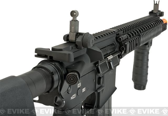 G&P V5 Airsoft M4 AEG with 12.5 RIS Handguard - Black (Package: Add Battery + Charger)