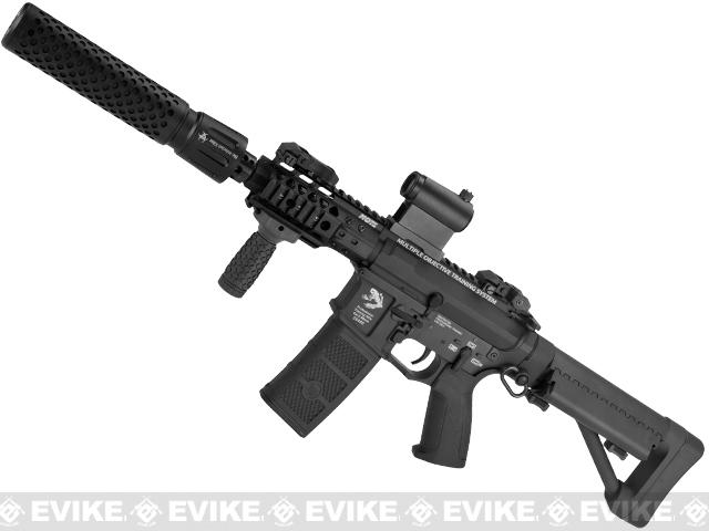 G&P FRS CQB M4 SBR Airsoft Electric Recoil AEG Rifle with QD Barrel Extension - Black (Package: Add Battery + Charger)