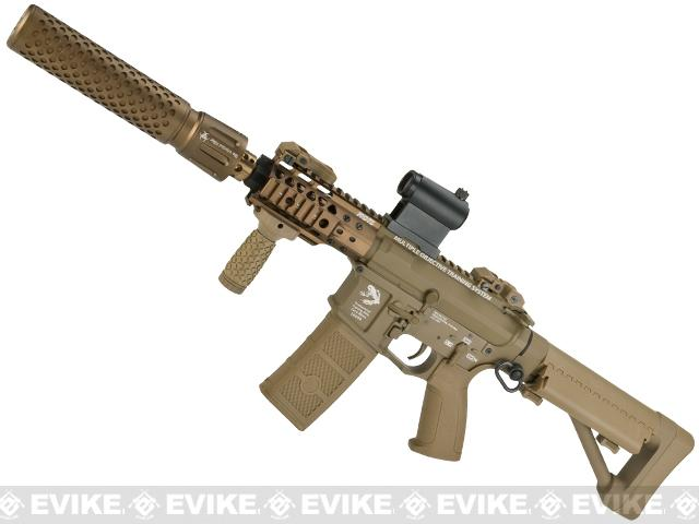 G&P FRS CQB M4 SBR Airsoft Electric Recoil AEG Rifle with QD Barrel Extension - Dark Earth (Package: Add Battery + Charger)