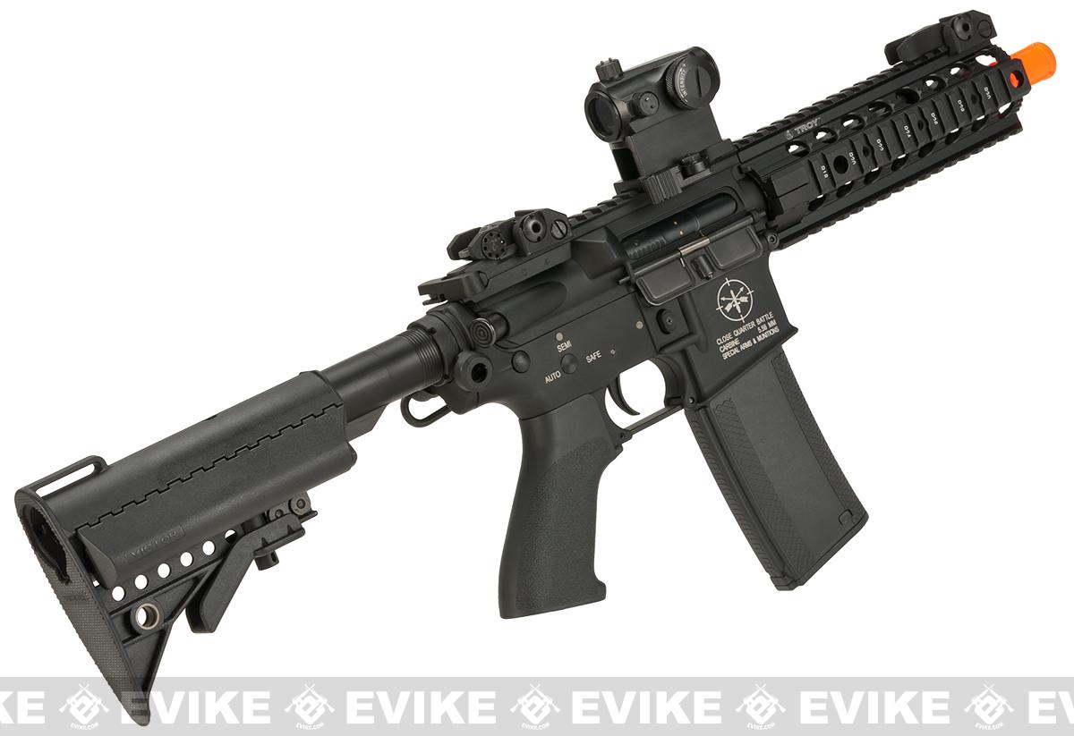 Pre-Order ETA June 2017 Evike Custom Madbull Licensed Troy Industries M7A1 Custom Airsoft AEG (Package: Add Battery + Charger)