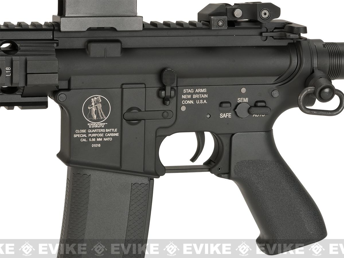 Pre-Order ETA April 2017 Evike Custom Madbull Licensed Troy Industries M7A1 Custom Airsoft AEG (Package: Add Battery + Charger)