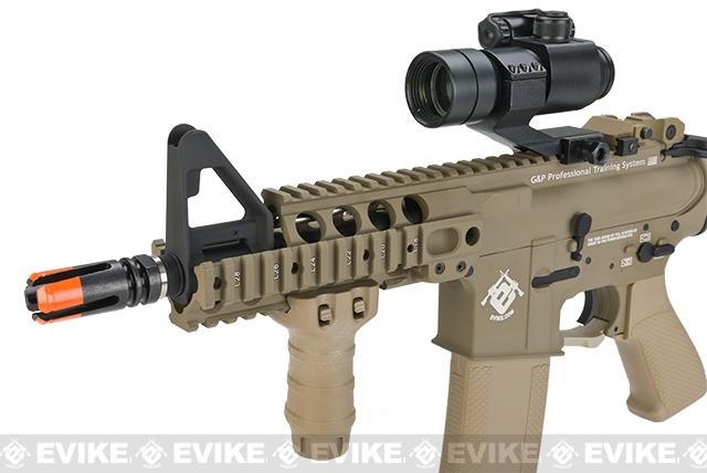 G&P DUAL FPS Rapid Fire Airsoft AEG Rifle w/ QD Barrel Extension - Dark Earth (Package: Add Battery + Charger)