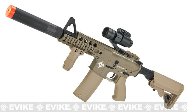 Pre-Order ETA June 2017 Evike.com G&P Rapid Fire II Airsoft AEG Rifle w/ QD Barrel Extension  (Package: Tan / Evike.com Receiver / V2 / Battery and Charger)