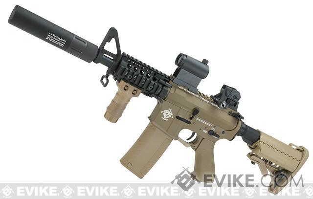 Evike.com G&P Rapid Fire II Airsoft AEG Rifle w/ QD Barrel Extension  (Package: Tan / Evike.com Receiver /  Gun Only)