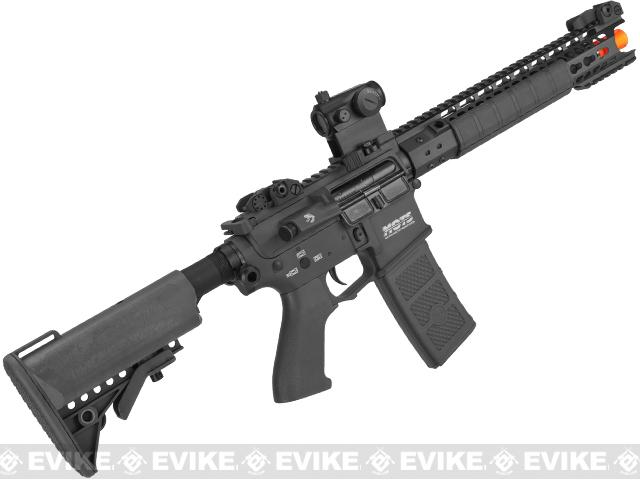 G&P MOTS 12.5 Keymod M4 Carbine Airsoft AEG Rifle - Black (Package: Add Battery + Charger)