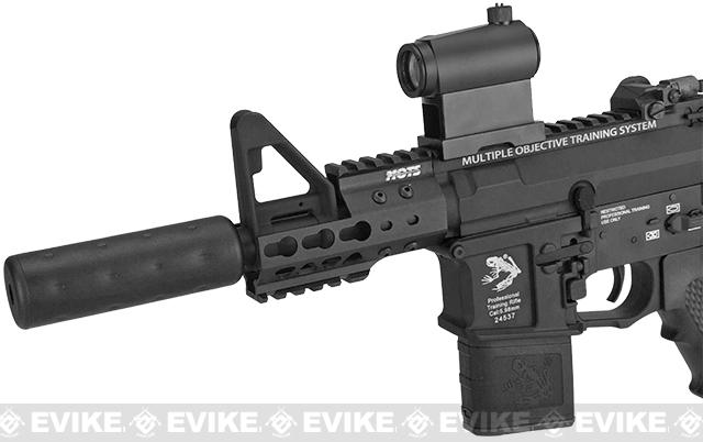 G&P Golf Ball Texture Keymod M4 PDW Full Metal Airsoft AEG Rifle - Black (Package: Add Battery + Charger)