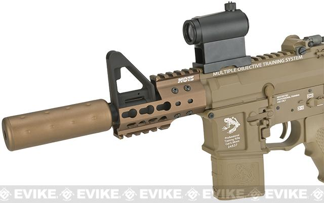 G&P Golf Ball Texture Keymod M4 PDW Airsoft AEG Rifle - Dark Earth (Package: Gun Only)