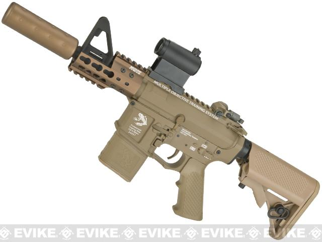 G&P Golf Ball Texture Keymod M4 PDW Full Metal Airsoft AEG Rifle - Dark Earth (Package: Gun Only)