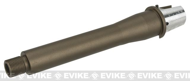 G&P Tapered 6.5 Tank Length CNC Aluminum GP-T Outer Barrel for G&P GP-T AEG Receivers - Sand