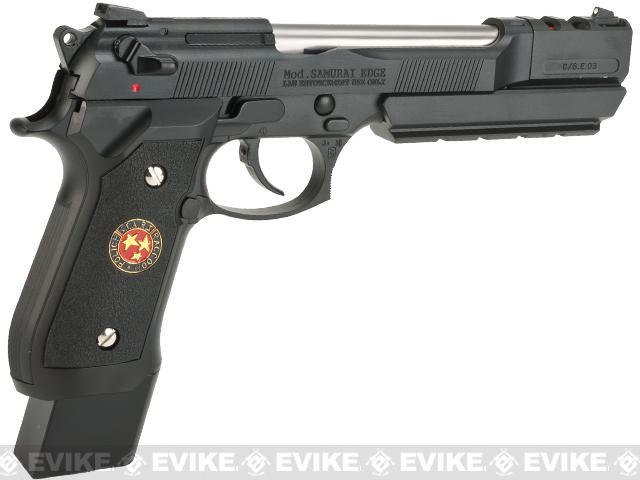 WE-USA NG3 Barry Burton Custom Biohazard M9 Limited Edition Airsoft Gas Blowback Pistol - Semi Auto