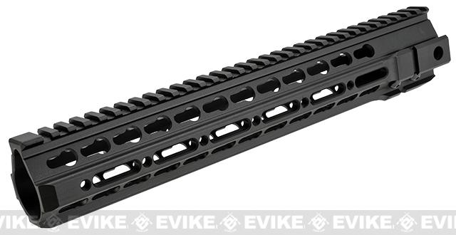 G&P TMR 12.5 Rail System for M4 / M16 Series Airsoft AEG Rifles (Long) - Black