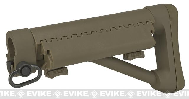G&P Shorty Maritime II Fixed Stock for M4/M16 Airsoft AEGs - Sand