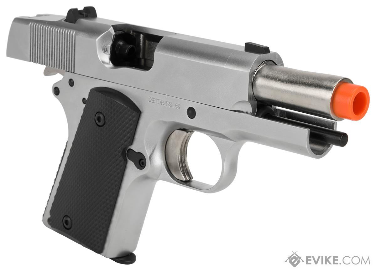 Matrix Elite Detonics 1911 .45 Combat Master Airsoft Gas Blowback Pistol (Model: Silver)