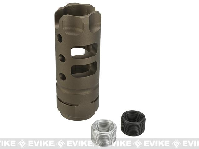 G&P MOTS Flashhider for Airsoft AEGs - Sand