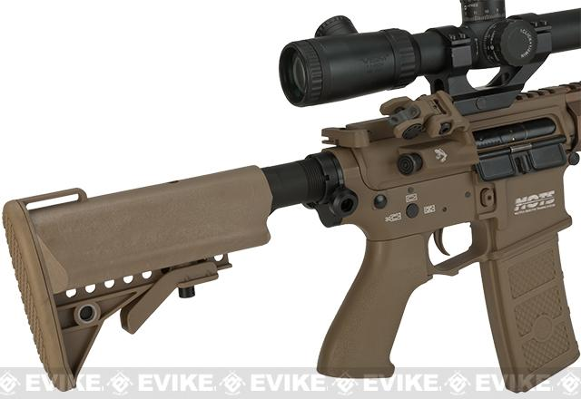 G&P FRS Keymod M4 Carbine Airsoft Electric Recoil AEG Rifle - Dark Earth (Package: Add Battery + Charger)
