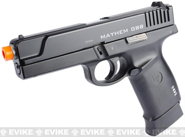 z Game Face Mayhem Full Size CO2 Airsoft Gas Blowback Pistol by KWC