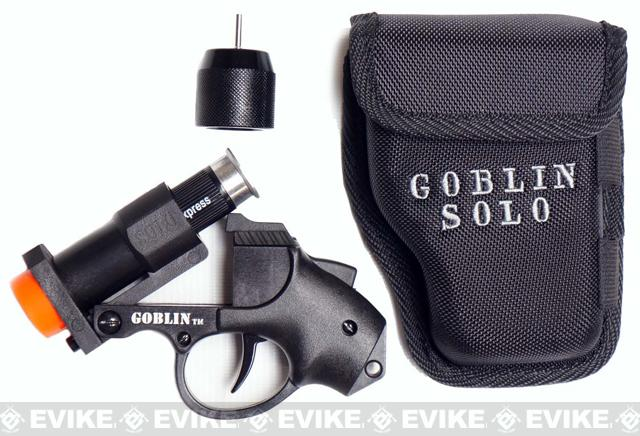 Goblin SOLO Airsoft Compact Shotgun Paintball Launcher Marker Set - Black
