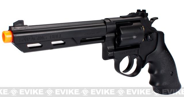 HFC 6 Bull Barrel Savage Bull Full Size Arisoft Gas Revolver - Black